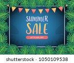 summer sale background banner ... | Shutterstock .eps vector #1050109538