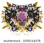 detailed butterfly wings with...   Shutterstock .eps vector #1050116378