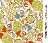 seamless paisley pattern | Shutterstock .eps vector #105012032