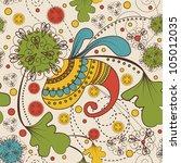 seamless paisley pattern | Shutterstock .eps vector #105012035