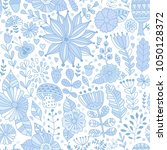 vector floral pattern with... | Shutterstock .eps vector #1050128372