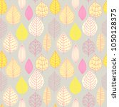 seamless pattern with leaf.... | Shutterstock .eps vector #1050128375
