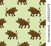 seamless pattern with wild... | Shutterstock .eps vector #1050131075