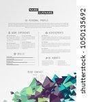 creative simple cv template... | Shutterstock .eps vector #1050135692