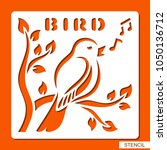 Stencil For Children. A Bird...