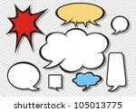 comic speech bubbles   Shutterstock .eps vector #105013775