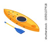 rafting boat in isometry style. ... | Shutterstock .eps vector #1050137918