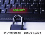 the concept of a cyber threat... | Shutterstock . vector #1050141395