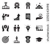 success icons. black flat... | Shutterstock .eps vector #1050143498