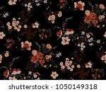 seamless floral pattern in... | Shutterstock .eps vector #1050149318