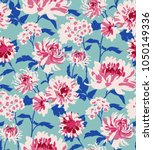 seamless floral pattern in... | Shutterstock .eps vector #1050149336