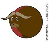 bull head sticker icons. ui...