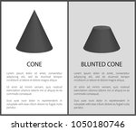 cone and blunted cone set of...   Shutterstock .eps vector #1050180746