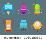 robotic creatures collection ... | Shutterstock .eps vector #1050180932