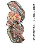 hand drawn illustration of... | Shutterstock . vector #1050181805