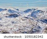 snow covered mountains of stony ... | Shutterstock . vector #1050182342