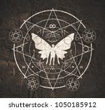 mystery  witchcraft  occult and ... | Shutterstock . vector #1050185912