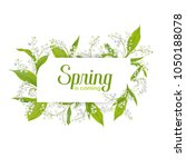 hello spring floral card for... | Shutterstock .eps vector #1050188078