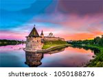 castle fortress river sunset... | Shutterstock . vector #1050188276