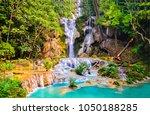 forest waterfall pool landscape | Shutterstock . vector #1050188285