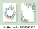 vector invitation cards with... | Shutterstock .eps vector #1050188582