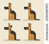 cute funny dog sheepdog set... | Shutterstock .eps vector #1050189392