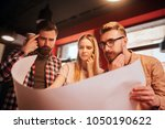 close up of three people... | Shutterstock . vector #1050190622