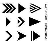 next arrows. black flat signs.... | Shutterstock .eps vector #1050193595