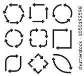 arrows in circular motion.... | Shutterstock .eps vector #1050193598
