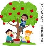 illustration of stickman kids... | Shutterstock .eps vector #1050197405