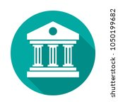 bank building circle icon with... | Shutterstock .eps vector #1050199682