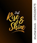 rise and shine typography... | Shutterstock .eps vector #1050200975