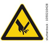 safety signs warning triangle... | Shutterstock .eps vector #1050210428