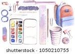 hand drawn watercolor... | Shutterstock . vector #1050210755