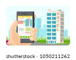 online booking phone... | Shutterstock .eps vector #1050211262