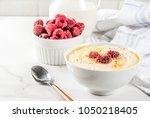 healthy breakfast  semolina... | Shutterstock . vector #1050218405