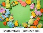 easter gingerbread in... | Shutterstock . vector #1050224408