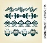 set of antique vector design... | Shutterstock .eps vector #105022745