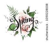 spring flowers bouquet for... | Shutterstock .eps vector #1050228038