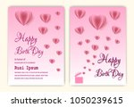 happy birthday background with... | Shutterstock .eps vector #1050239615