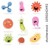 cute and funny bacteria  virus  ...   Shutterstock .eps vector #1050242492
