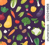 vegetables vector healthy... | Shutterstock .eps vector #1050244808