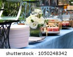 set up table for event  food  ... | Shutterstock . vector #1050248342