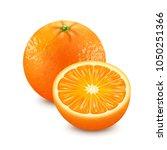 fresh orange. 3d realistic... | Shutterstock .eps vector #1050251366