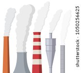 factory or power plants pipes... | Shutterstock .eps vector #1050256625