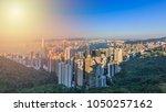 hong kong skyscraper  victoria... | Shutterstock . vector #1050257162