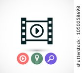 play the film  vector icon | Shutterstock .eps vector #1050258698