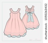 fashion drawing of the dress...   Shutterstock .eps vector #1050263432