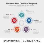 vector infographic business...   Shutterstock .eps vector #1050267752