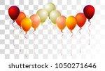 realistic helium balloons... | Shutterstock .eps vector #1050271646